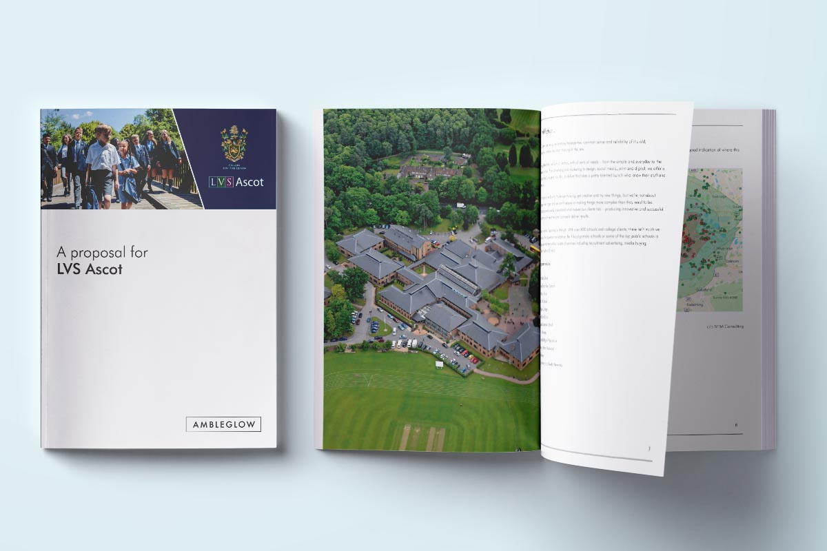 lvs ascot print marketing strategy