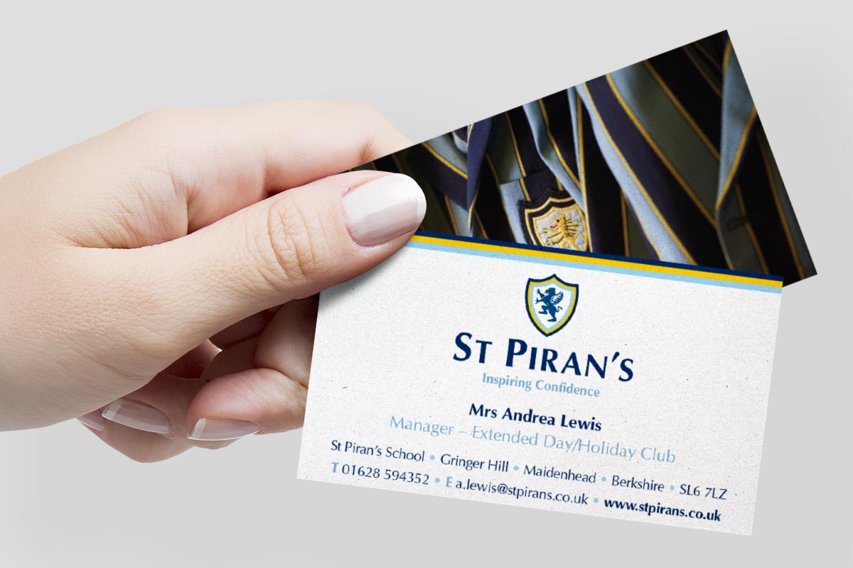 st pirans school business cards